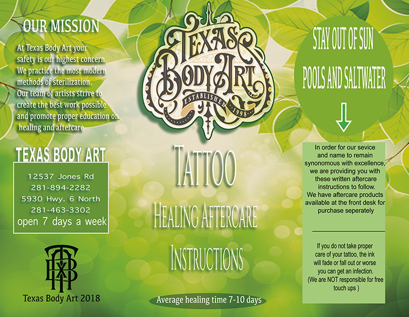 Tattoo Aftercare – Texas Body Art